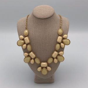 Francesca's Cream and Gold Statement Necklace